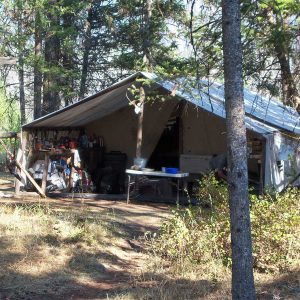 Hunt Camp in Bob Marshall WIlderness